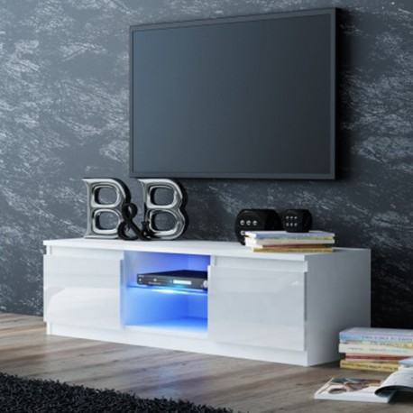 tv schrank lowboard fernseher hochglanz schrank tv mobel fernsehtisch 140cm weiss led