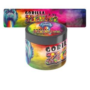 Gorilla Zkittlez Jar Labels Type 2
