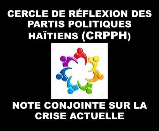 7 février : Le Cercle de Réflexion des Partis Politiques Haïtiens (CRPPH) prône le dialogue pour résoudre la crise.