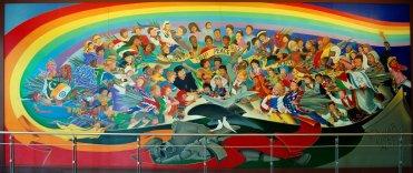 De Profetische Muurschildering 'Kinderen van de Wereld Droom van Vrede'