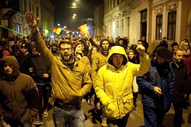 mars protest Cluj