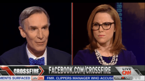 Bill Nye on Crossfire debating Climate Change