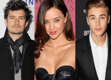Justin Bieber and Orlando Bloom fight over Miranda Kerr in Ibiza, Bieber posts to instagram photo of Miranda Kerr. orlando bloom's ex wife