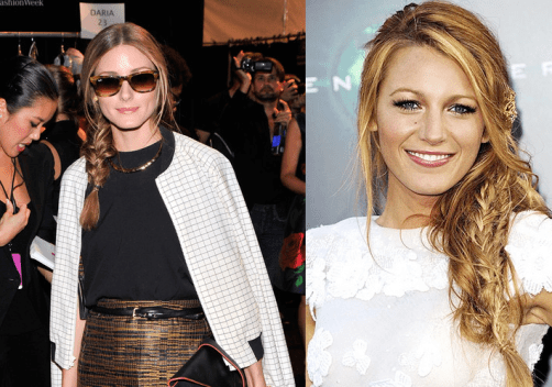 Blake Lively fishtail braid. Olivia Palermo fishtail braid. braids for fall. fishtail tutorial