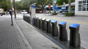Citi bikes in Brickell