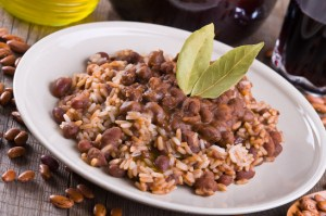 Toby Love's favorite food is a healthy serving of rice and beans.