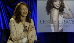 Leslie Grace laughs and says her on-screen love interest Alejandro Irizarry is just a good friend. However, she does admit her heart is taken. (screen grab)