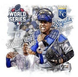Venezuelan catcher Salvador Perez delivered an amazing performance on Game 5 of the World Series against the New York Mets.