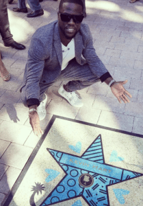 Kevin Hart received a star on the Miami Walk of Fame.