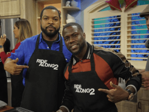 Kevin Hart and Ice Cube promote Ride Along 2 in MIami.