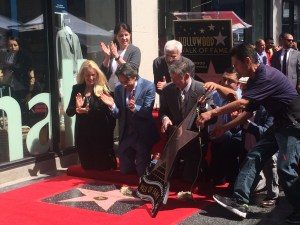 Mexican actor Eugenio Derbez celebrates as he is presented with a star donning his name in L.A.'s Hollywood Walk of Fame. (Photo courtesy of)
