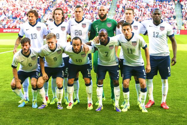 Members of the pre-World Cup 2014 roster for the US Men's National Soccer Team