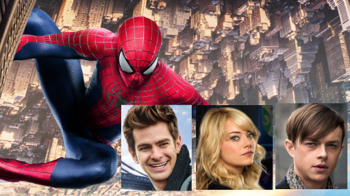 Emma Stone and Andrew Garfield talk about their romantic scenes in The Amazing Spider-Man 2.