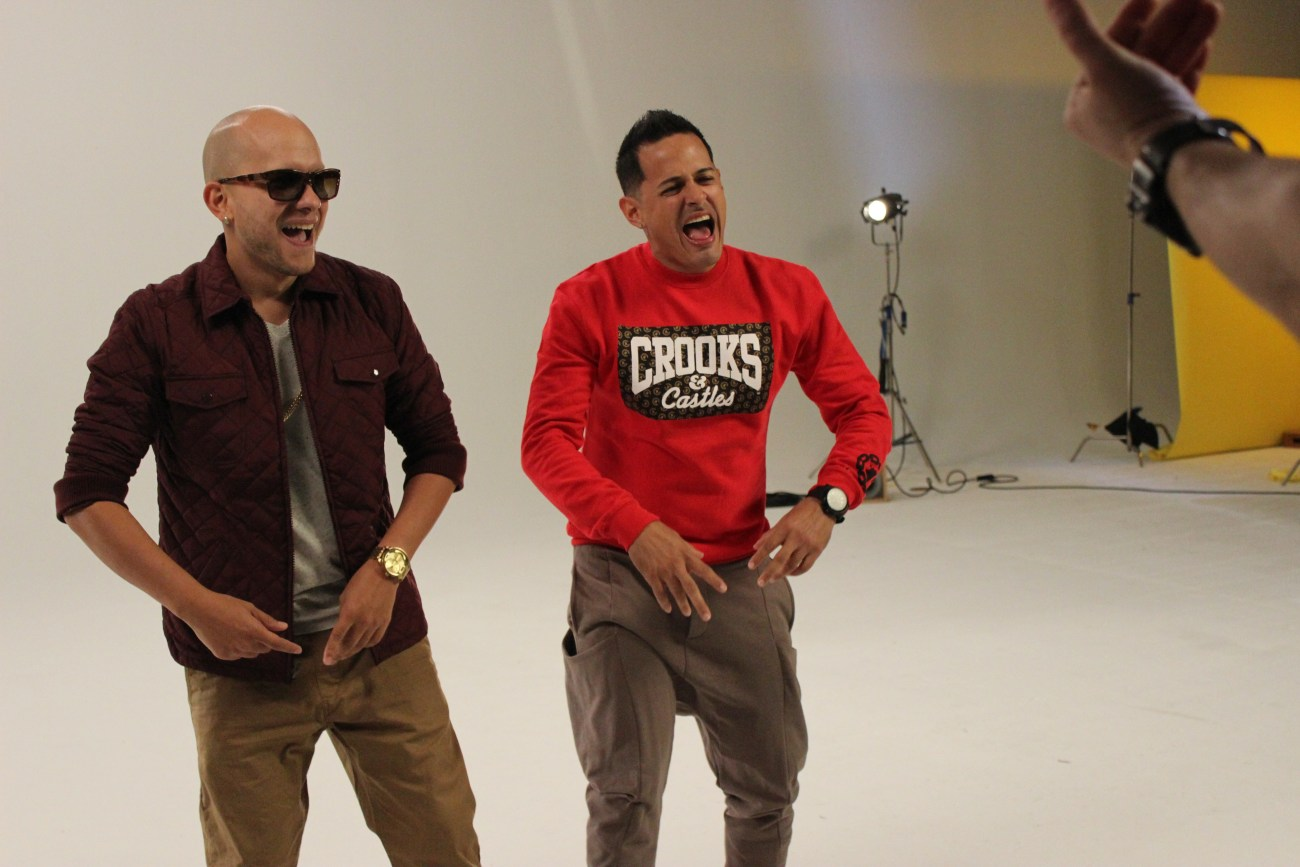 Khriz y Angel shot their WEPA video in Miami.