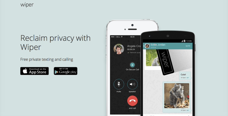 a new app helps you erase unwanted messages from your cell phone.