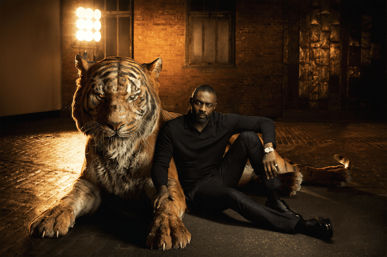 Idris Elba is Shere Khan in Disney's The Jungle Book.