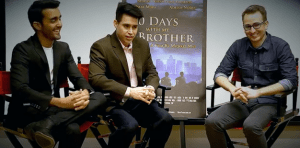 30 Days with My Brother cast interview in Los Angeles.