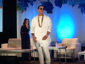 Daddy Yankee spoke during the clash of the titans panel at the Billboard Latin Music Conference.
