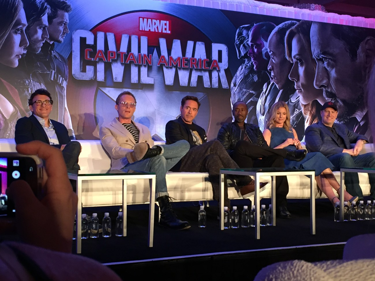 Captain America: Civil War Cast Members speak to reporters in L.A.
