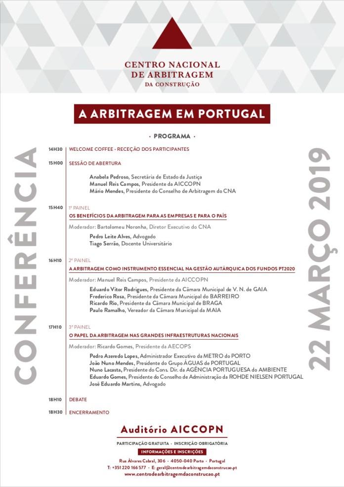 Programa da Conferência a Arbitragem em Portugal