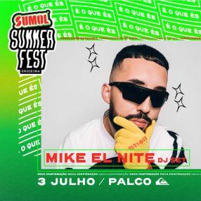 Mike El Nite no cartaz sumol summer fest 2021