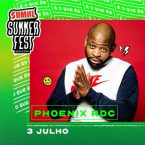 phoenix rdc no cartaz sumol summer fest