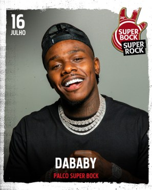 dabady no cartaz super bock super rock 2021
