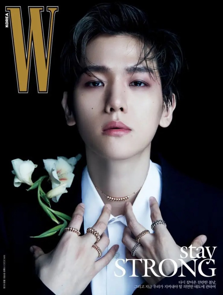 W Korea's May issue cover featuring EXO's Baekhyun