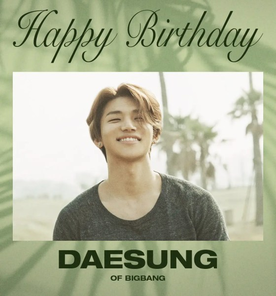 HAPPY BIRTHDAY DAESUNG...the eternal youngest of Big Bang