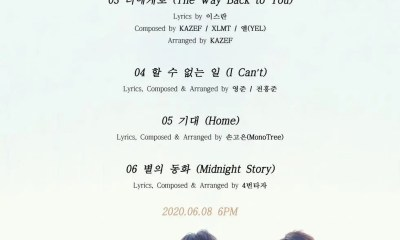 Super Junior K.R.Y.'s New Album Tracklist Released on May 22