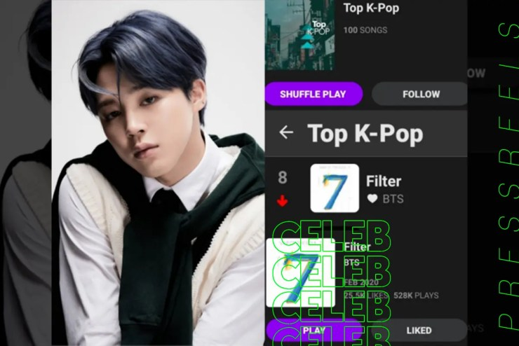 BTS Jimin 'Filter' Middle East's largest music site 'Anghami' TOP10
