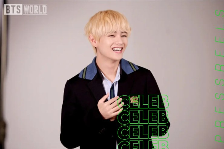 BTS V Reveals Behind-the-scenes Photos of Blonde Hair