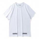 1615203 thum 1 - 2018夏新作オフホワイト偽物ストリートスタイルクルーネック男女兼用半袖Tシャツ