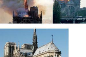 0416 06 1 - ノートルダム寺院大規模火災 尖塔焼け落ちる