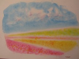 1633304 thum - ゆるりと3色パステル画ひろばin 喫茶あすなろ (お花畑を描く)