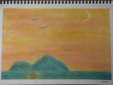 1635328 thum - ゆるりと3色パステル画教室で描く、海に浮かぶ島①