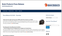 Brain Products Press Release - Issue 02/2020 - Overview
