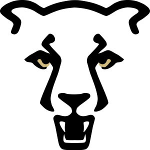 UCCS Mountain Lion Logo – Standard Gold Eyes, White Teeth
