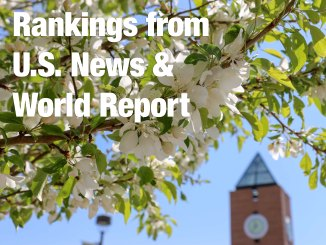 Graphic of U.S. News & World Report rankings