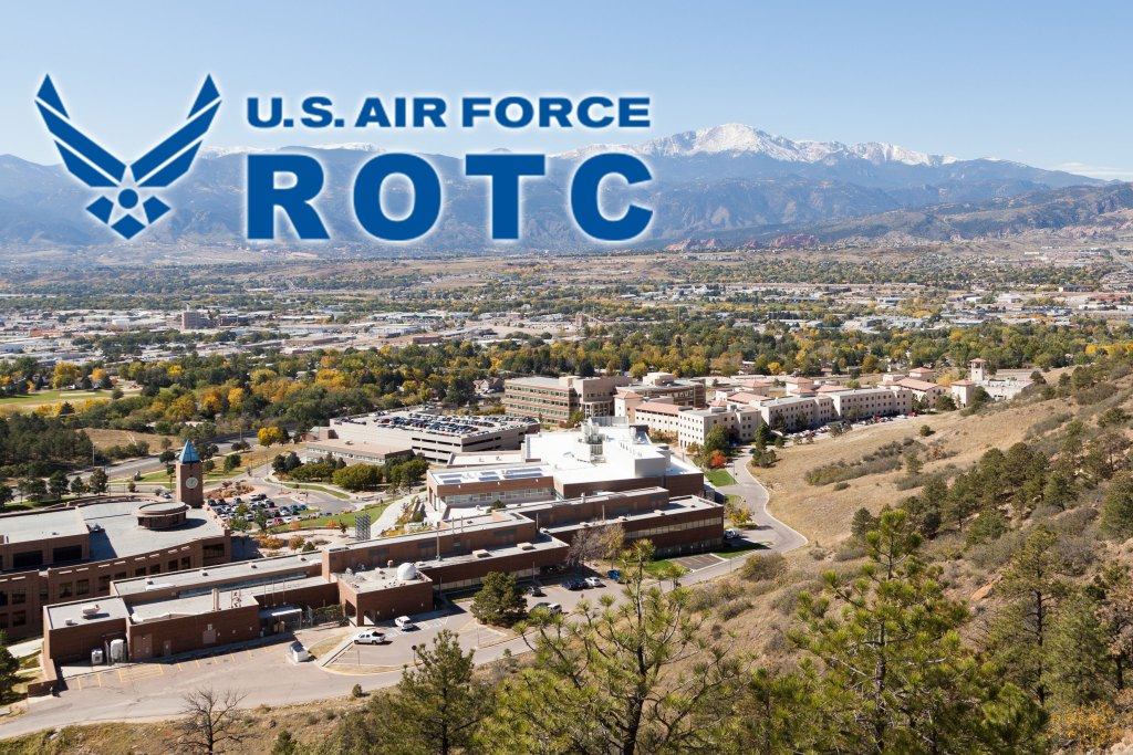 Air Force ROTC logo with campus