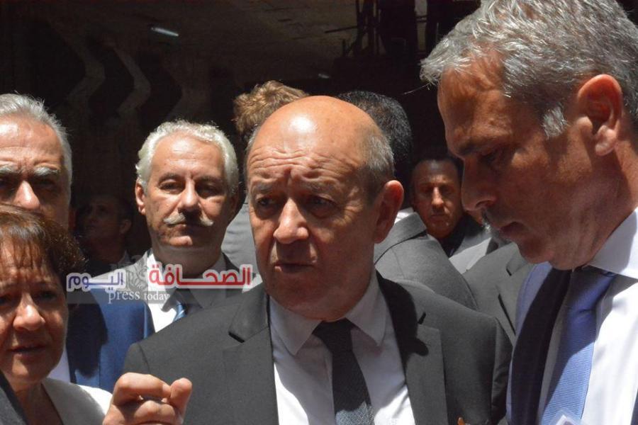 وزير الخارجية الفرنسى يتفقد محطة مترو هليوبوليس