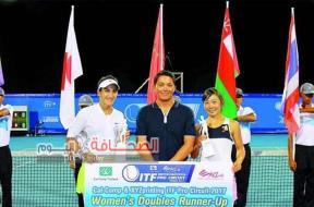فاطمة النبهانية بطلة التنس العمانية العالمية علي منصات التتويج في البطولات الدولية