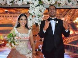 بالصور .. زفاف الاعلامية عائشة العديسى ود. يحيى زكى على نيل القاهرة