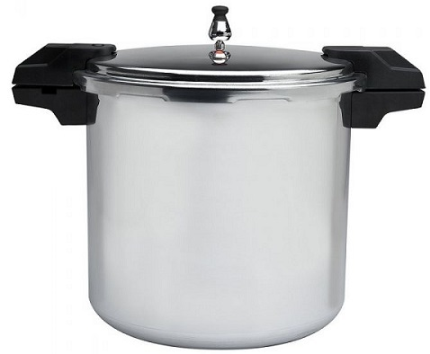 Mirro 92122A Polished Aluminum 5 / 10 / 15-PSI Pressure Cooker / Canner Cookware