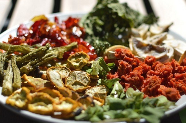 Dehydrated food on a plate.