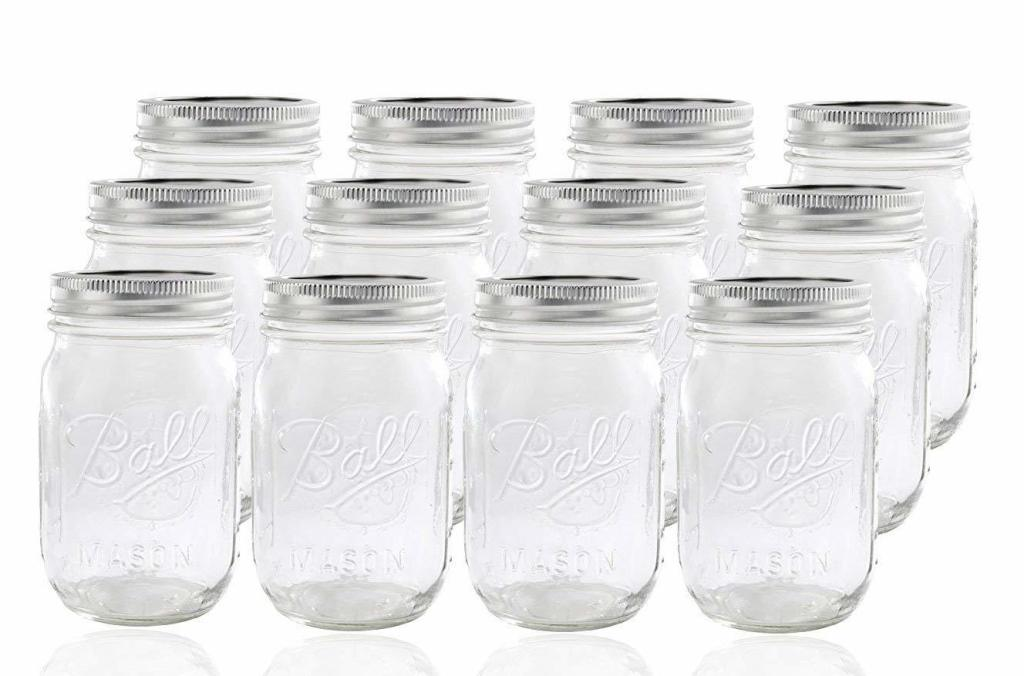 Ball Glass Mason Jar with Lid and Band