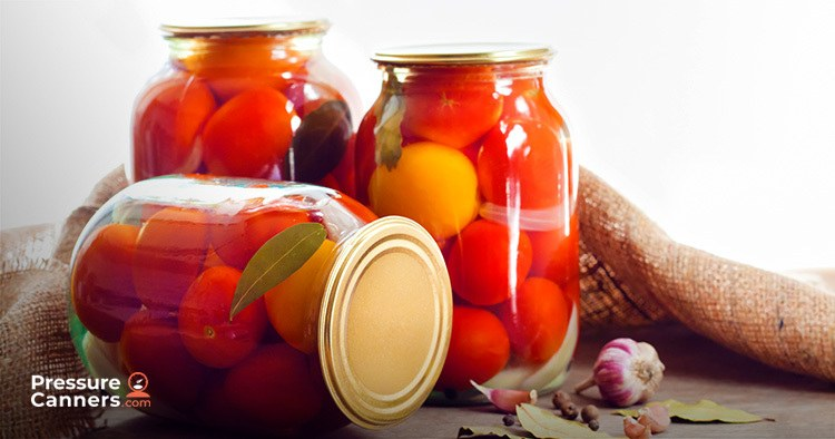 Tomatoes in a glass jars