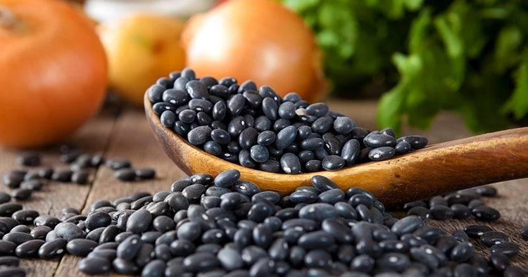 black-beans-wooden-spoon-cilantro-onions