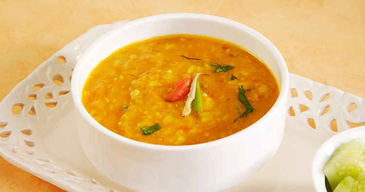 Moong Dal or Split Yellow Lentils, Indian Dish