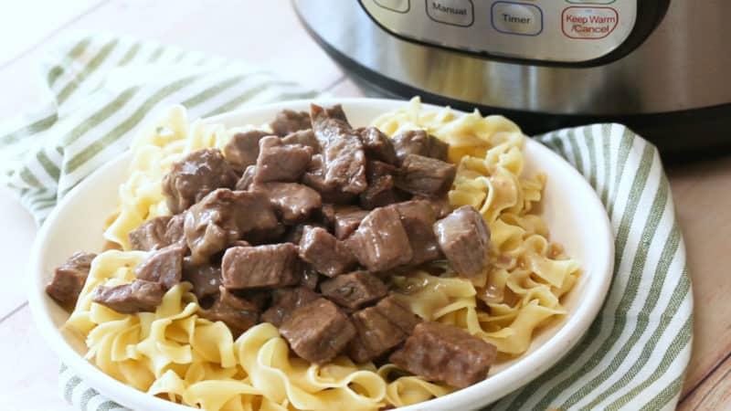 Instant Pot / Pressure Cooker Sirloin Tips in Gravy